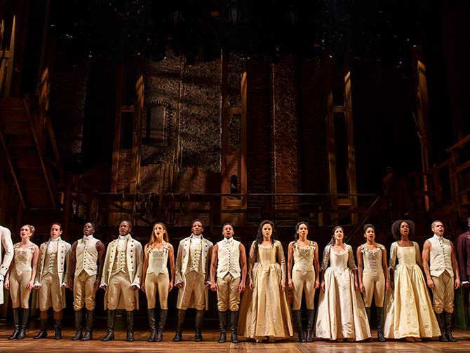Hamilton am Broadway Tickets - Das Ensemble
