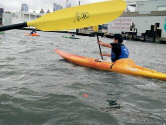 Kajak fahren in New York - Hudson River