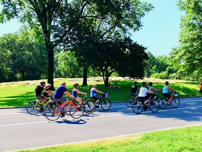 Fahrrad mieten in New York- Fahrradfahren im Central Park