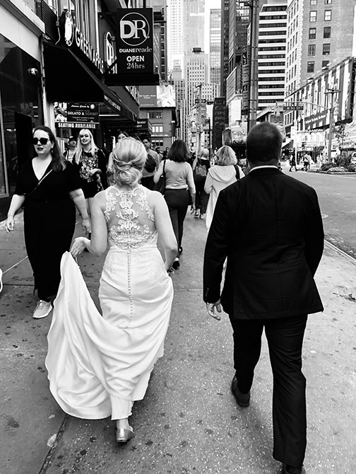 Hochzeitsfotograf in New York - Straßenaufnahme