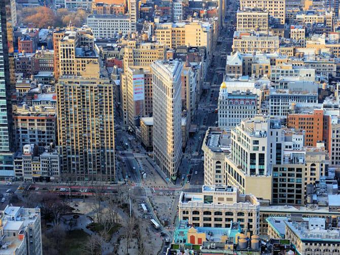 Flatiron Building in New York - Aussicht