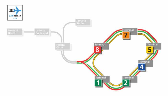 JFK AirTrain AirTrain map