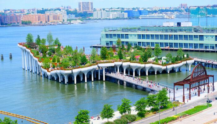 Little Island in New York - Die ganze Insel