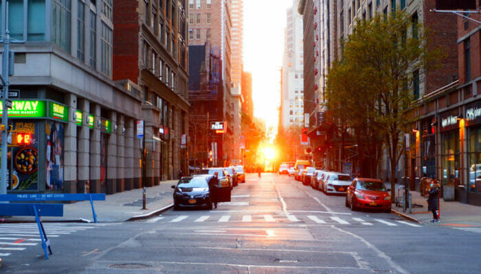 Manhattanhenge Street View