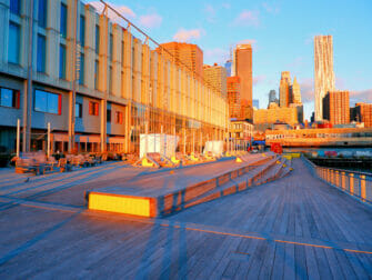 South Street Seaport in New York - Sonnenaufgang