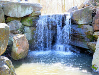 Central Park in New York - Wasserfall