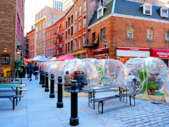 New York impft Touristen - Stone Street in New York