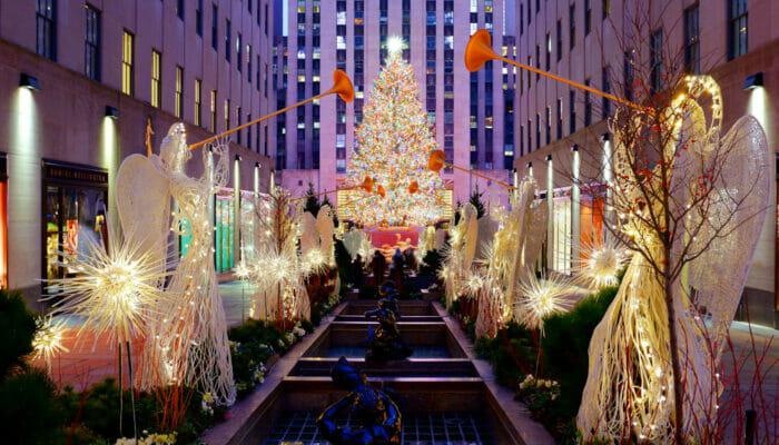 Rockefeller Center Weihnachtsbaum Erleuchtungszeremonie