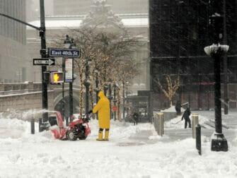 Schnee in New York - Straße