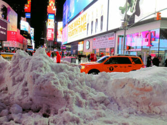 Schnee in New York - Times Square