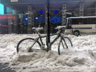Schnee in New York - Verkehrsmittel